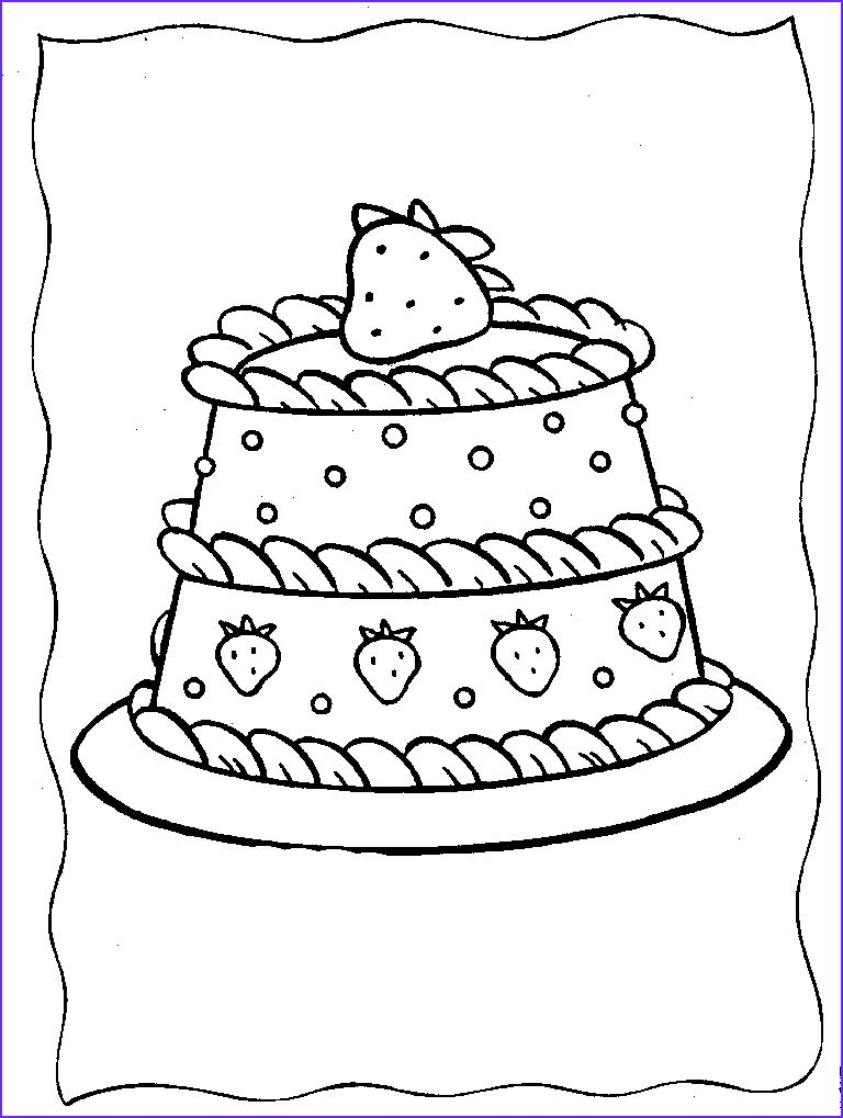 15 Luxury Cake Coloring Pages Photos in 2020 (With images ...