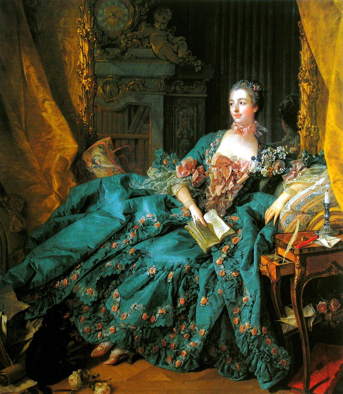 François Boucher (French 1703–1770) [Rococco] Madame de Pompadour, 1756. Alte Pinakothek, Munich.