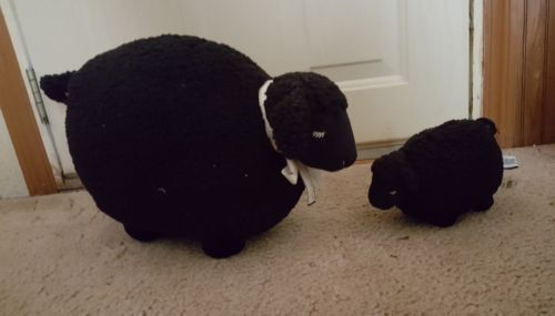 Bath And Body Works Black Sheep Lamb Plush Shepra Stuffed Animal