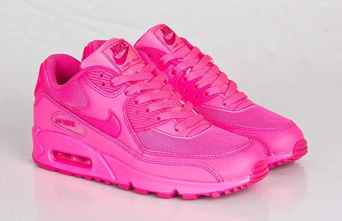 Nike Air Max 90 Gs Hyper Pink Nicekicks Com Ropa Hermosa Zapatos Zapatillas