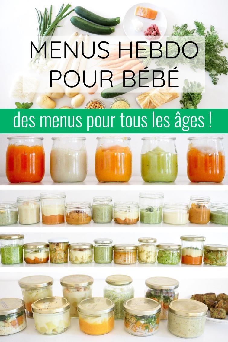 Menus Hebdomadaires Pour Bebe Cuisinez Pour Bebe Repas Pour Bebe Faits Maison Aliments Pour Bebe Faits Maison Nourriture Bebe