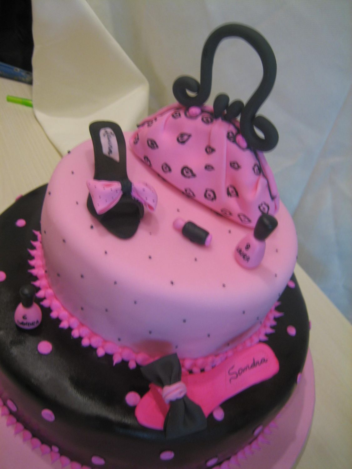 purse Birthday Cakes for Girls Hot Pink for Sisters 16th