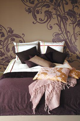 Light Brown Bedroom On Purple With
