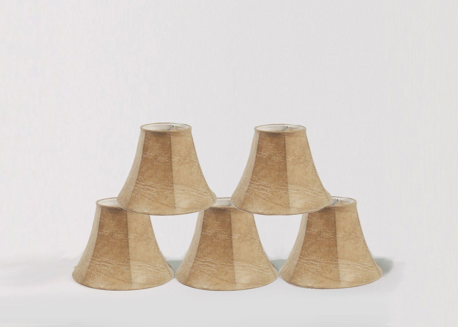 Urbanest 1100086b set of 5 chandelier lamp shade 6 inch bell faux urbanest set of 5 chandelier lamp shade bell faux leather clip on special offer just for you arubaitofo Choice Image