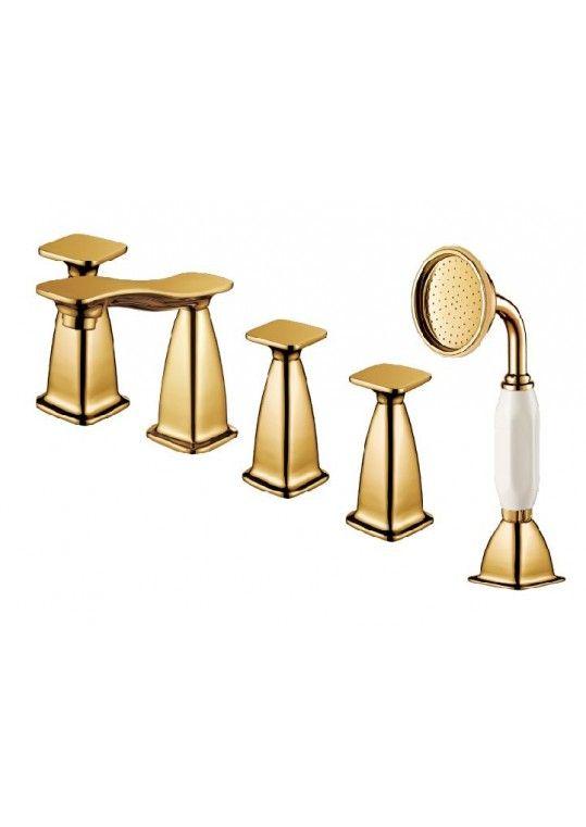 Hotel gold bathroom shower faucet supplier,luxury gold bath faucet ...