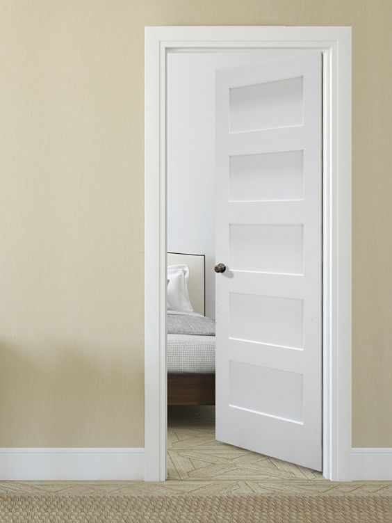 Looking To Create A Clean Modern Look In Your Home Check Out Our Primed 5 Panel Equal Flat Doors Shaker Interior Doors Doors Interior Prehung Interior Doors