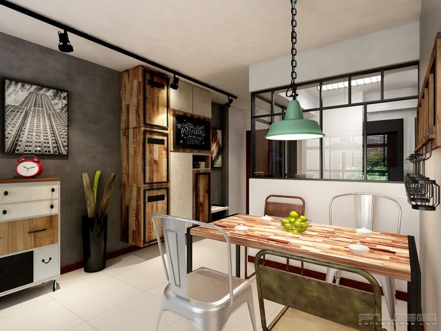 Industrial Loft Style Apartment Minimalism Chinese Style Raw