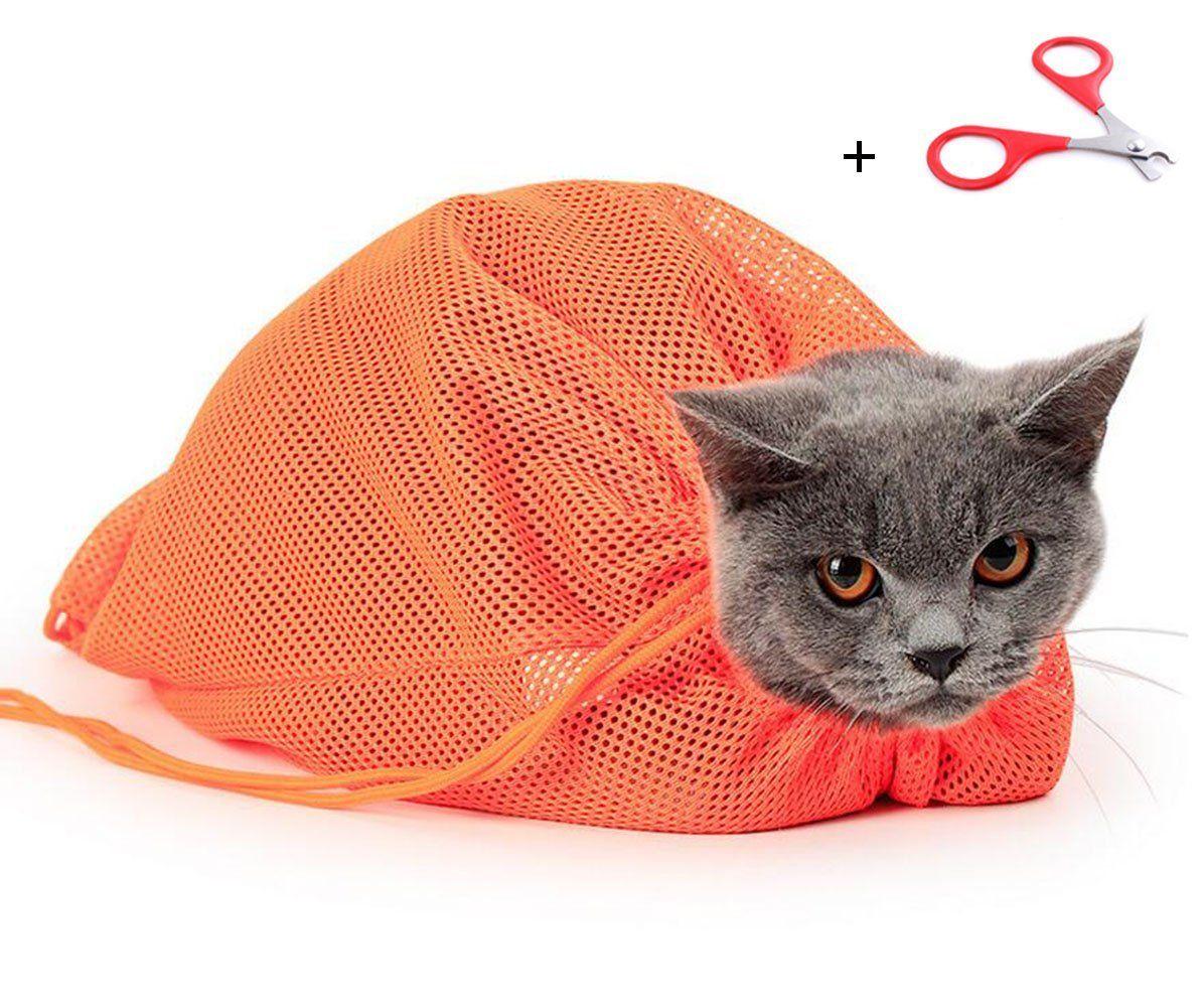 Pet Grooming Bag Adjustable Polyester Mesh Big Cat