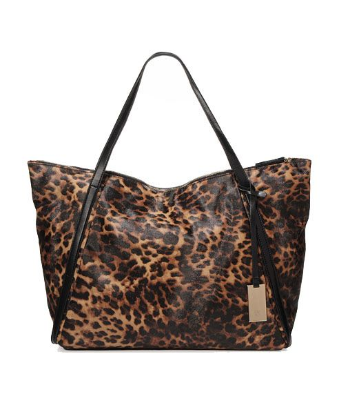 Oversized Bag With Leopard Print