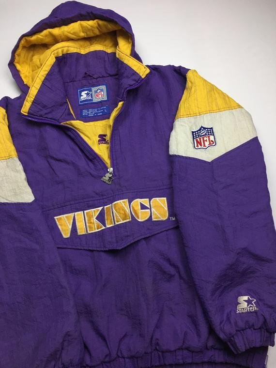 huge selection of 1b3e5 dd075 90s Vintage Minnesota Vikings Starter Windbreaker Jacket ...