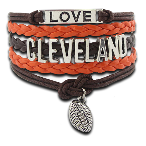 FREE Crazy Love Cleveland Football Bracelet