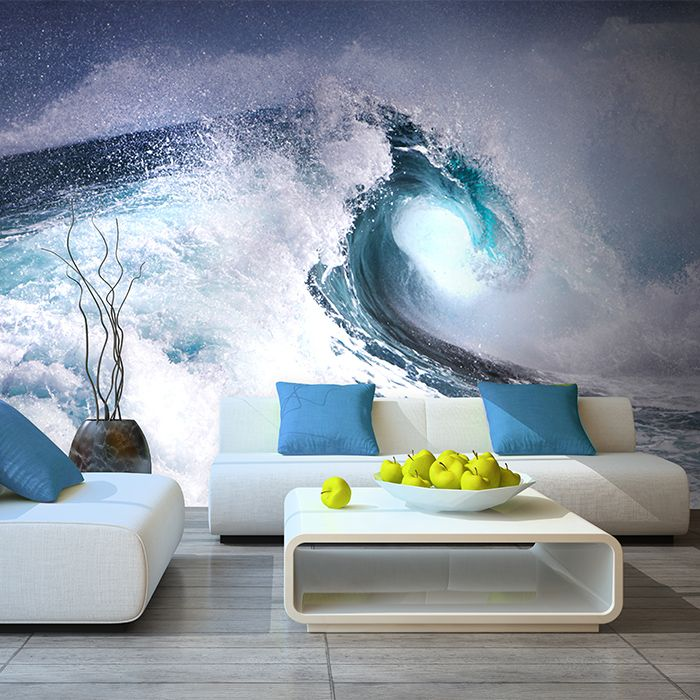 Free Shipping 3d Stereo Sea Scenery Large Mural Wallpaper