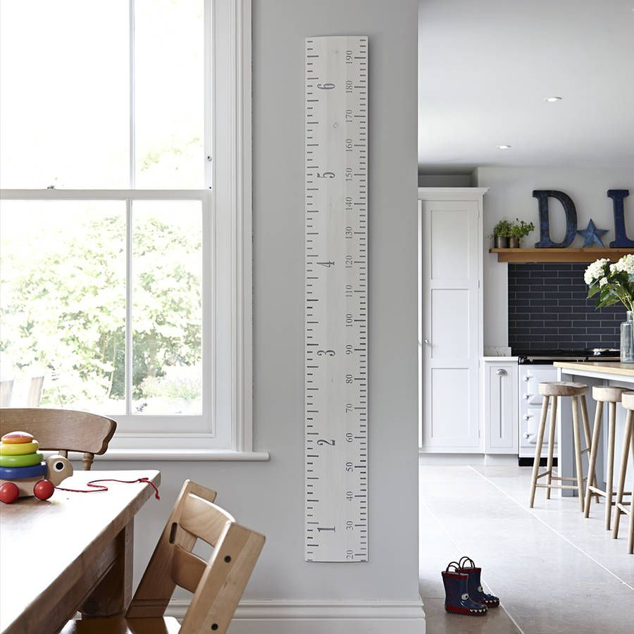 Wooden ruler growth chart in white grey and putty growth charts wooden ruler growth chart in white grey and putty geenschuldenfo Images