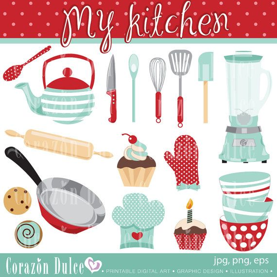 Kitchen Drawer Clip Art: My Kitchen Personal And Commercial Use Clip Art-INSTANT