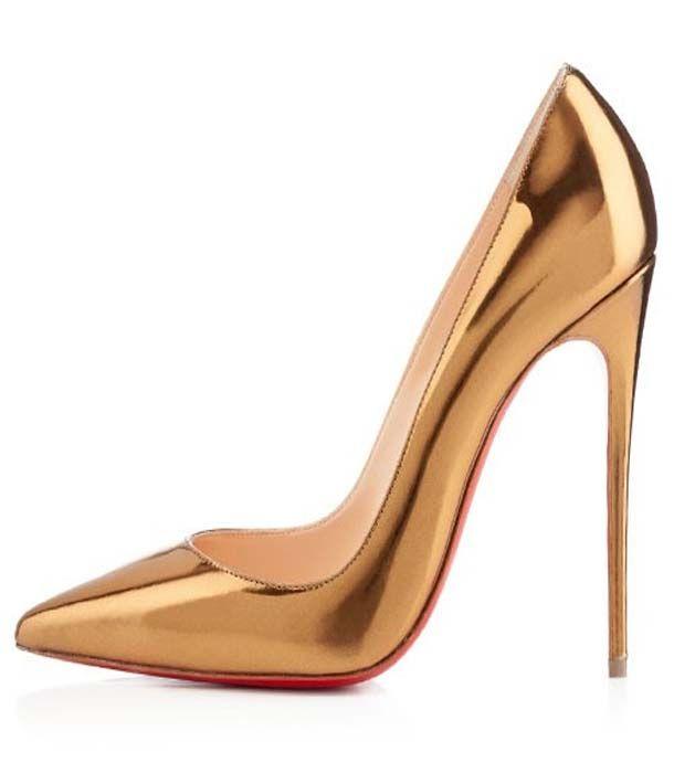 gold red bottom heels cheap online