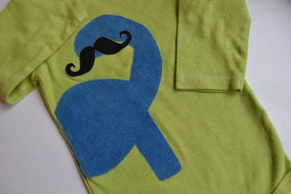 Dino Onesie  Dino Mustache Onesie  18 Months  by thisplaidshirt, $16.50