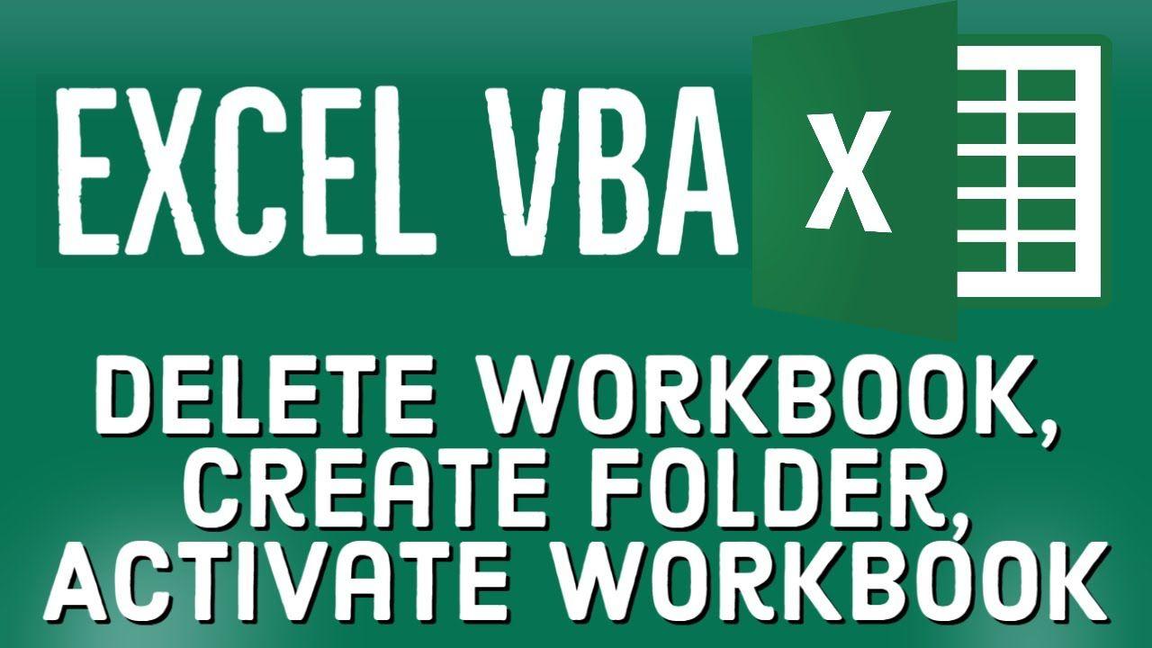 Excel Vba Tutorial For Beginners 33 Delete Workbook Create Folder Ac Workbook Excel Learn Programming Excel vba get active worksheet name