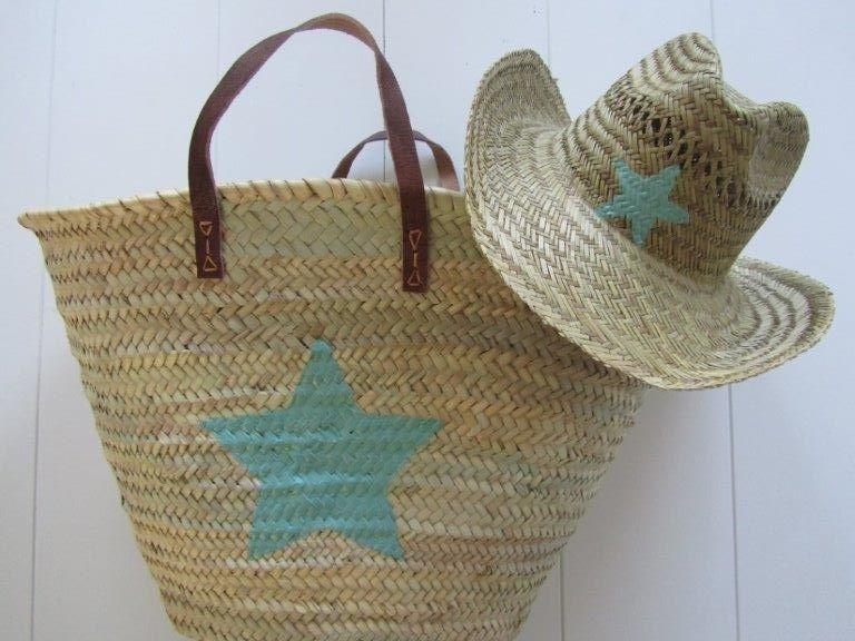Rieten Tassen Ibiza Style : Ibiza stro hoed en rieten tas ster in kleuren fashion