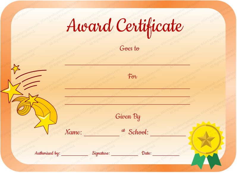 CoreValueAwardCertificateTemplatePreviewPng
