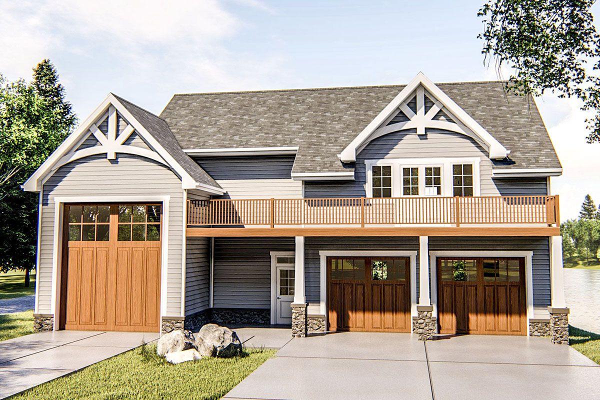 Plan 62770dj Rv Garage Apartment Plan Carriage House Plans Garage Apartment Plan Garage Plans With Loft