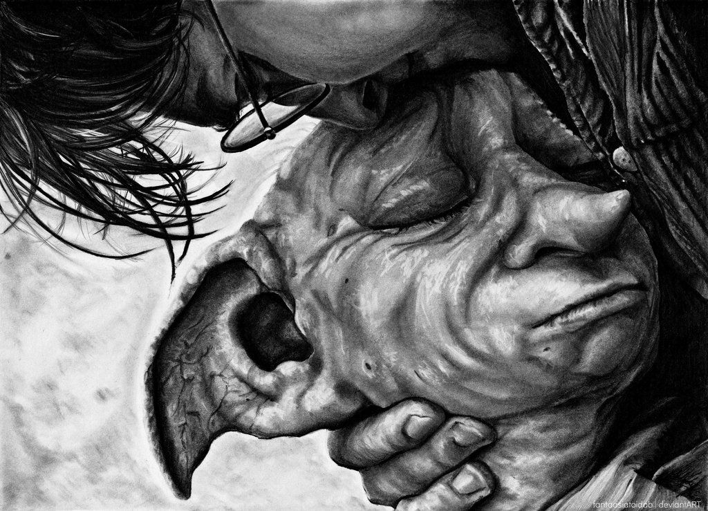 Dobby Is Happy To Be With His Friend By Fantaasiatoidab Deviantart Com On Deviantart Dobby Harry Potter Harry Potter Sketch Harry Potter Drawings