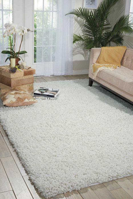 Nourison Zen Zen01 3 6 X 5 6 White Area Rug White Shag Area