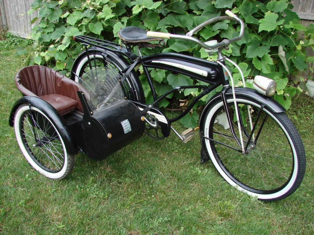 The sidecar is cool, but I like the bicycle it's attached to