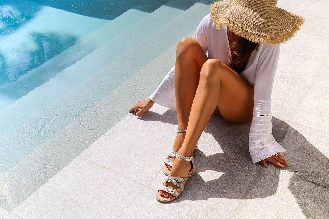 f74b0d06f21 We are seriously loving the white snake print 'Kookaburra' sandal ...