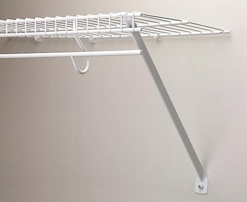 12 Support Brace At Menards To Hold Up That Shelf In The Closet Wire Shelving Shelves Shelf Brackets