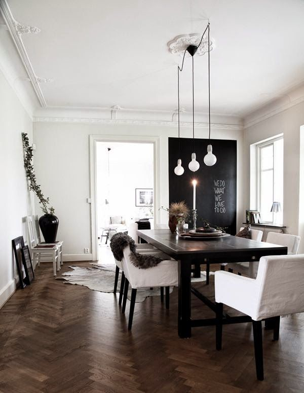 15 comedores decorados en blanco y negro | Pinterest | Decoración de ...