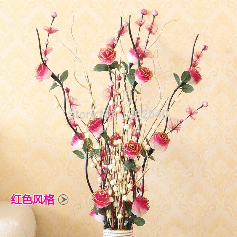 Jarrones altos con flores artificiales buscar con google - Jarrones flores artificiales ...
