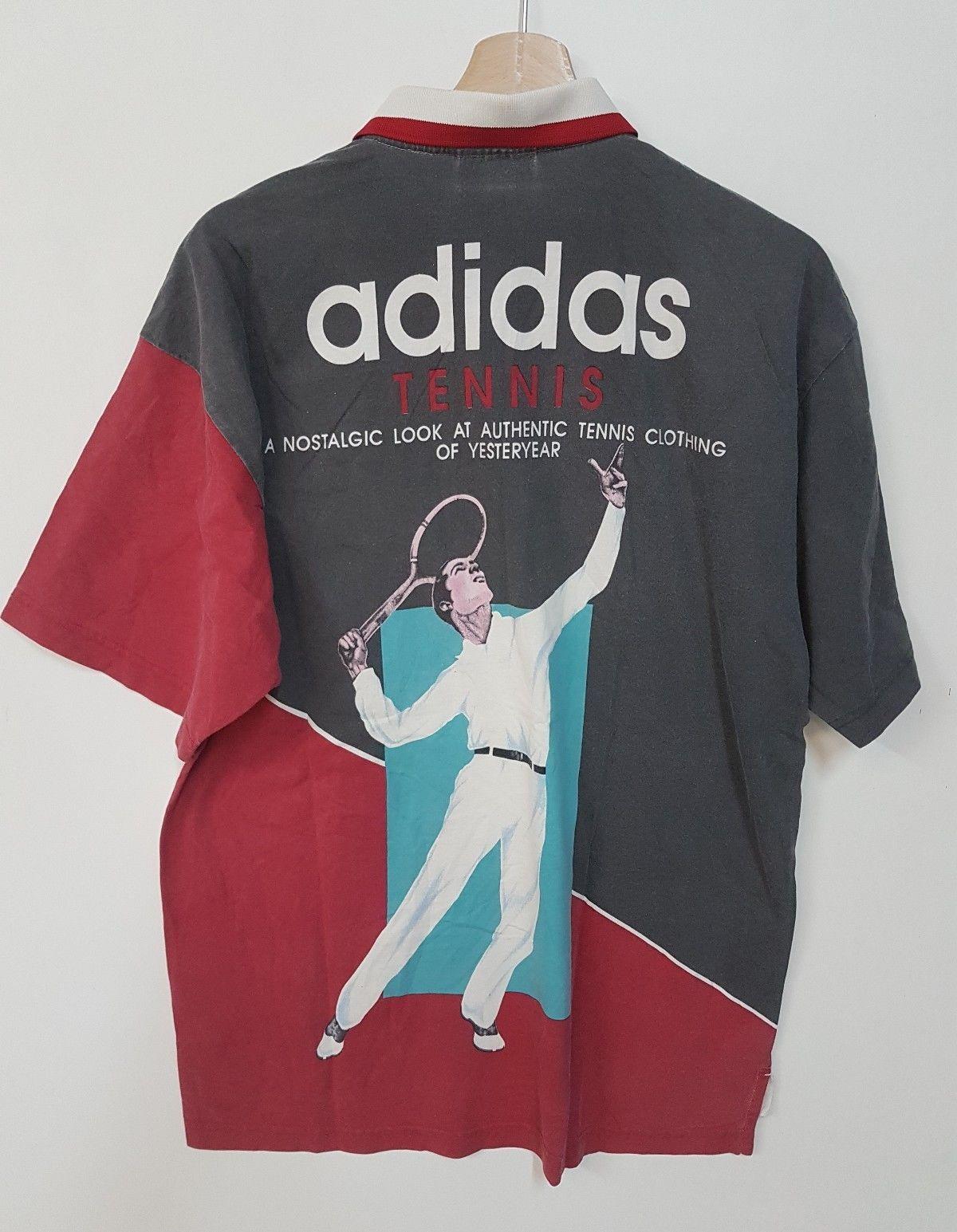 23bc621b6bb ADIDAS polo tennis vintage Shirt maglia Tennis vintage