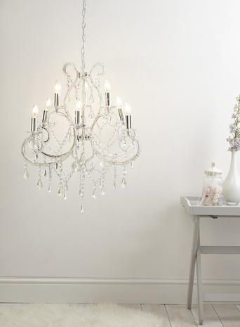 Chrome Bryony Light Chandelier Bhs Bedroom Lighting Living