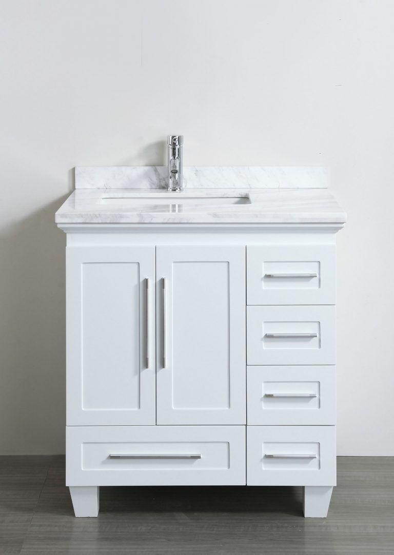 Dazzling White Bathroom Vanity 30 Inches 28 Inch With Drawers Bathroomvanities30inch 30 Inch Bathroom Vanity Small Bathroom Vanities White Vanity Bathroom