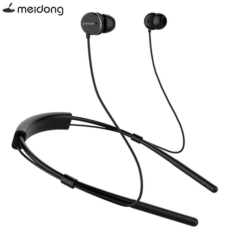 8d469ea9159 meidong HE6A Active Noise Cancelling Bluetooth Earphone Headset Sweatproof  sports 4.2 Wireless Earbuds Neckband Build-