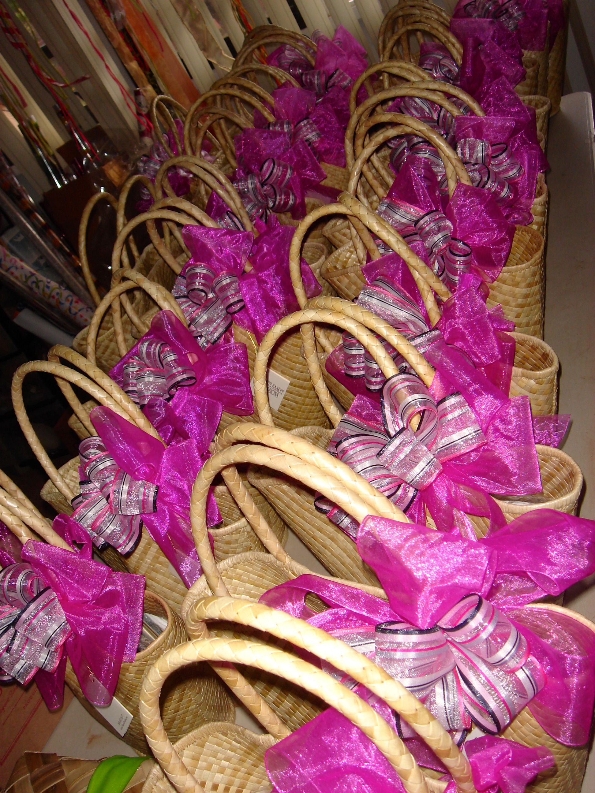 Hawaiian Spa Tote Bags for Wedding Favors. From: Exquisite Basket ...