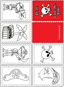 Mini Coloring Book, Pirate, Coloring Pages - Free Printable Ideas ...