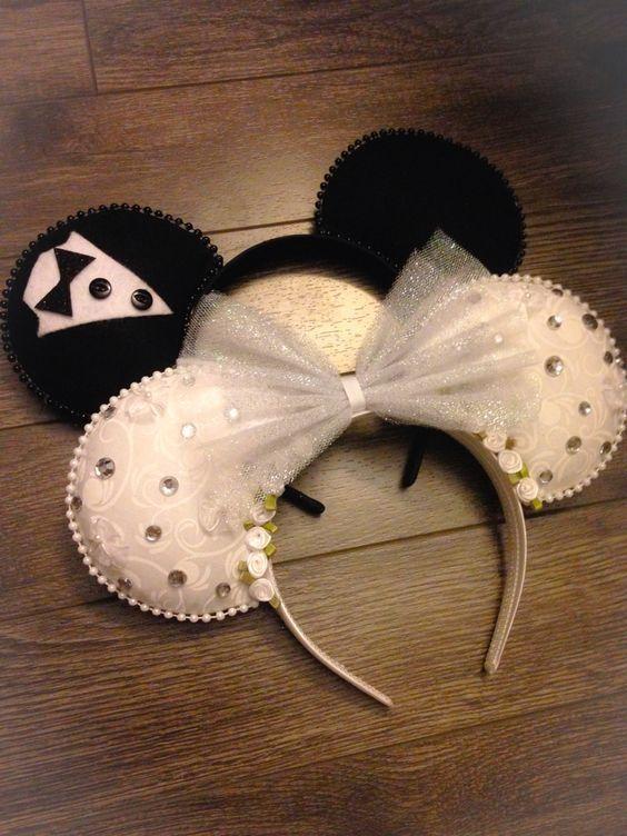 bride and groom mickey ears headband - Google Search  3bf43023011