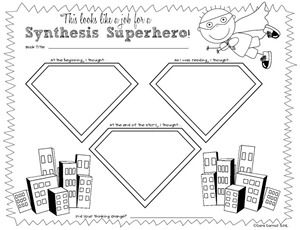 two worksheets for synthesizing when reading