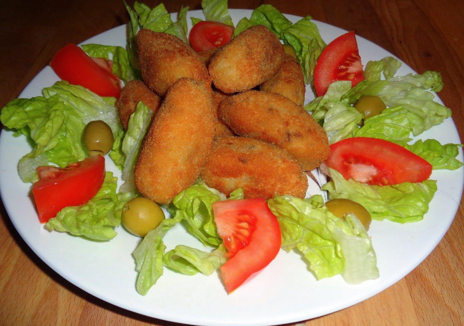 RECETAS DE MI MADRE Y MIAS: Croquetas caseras de carne del caldo