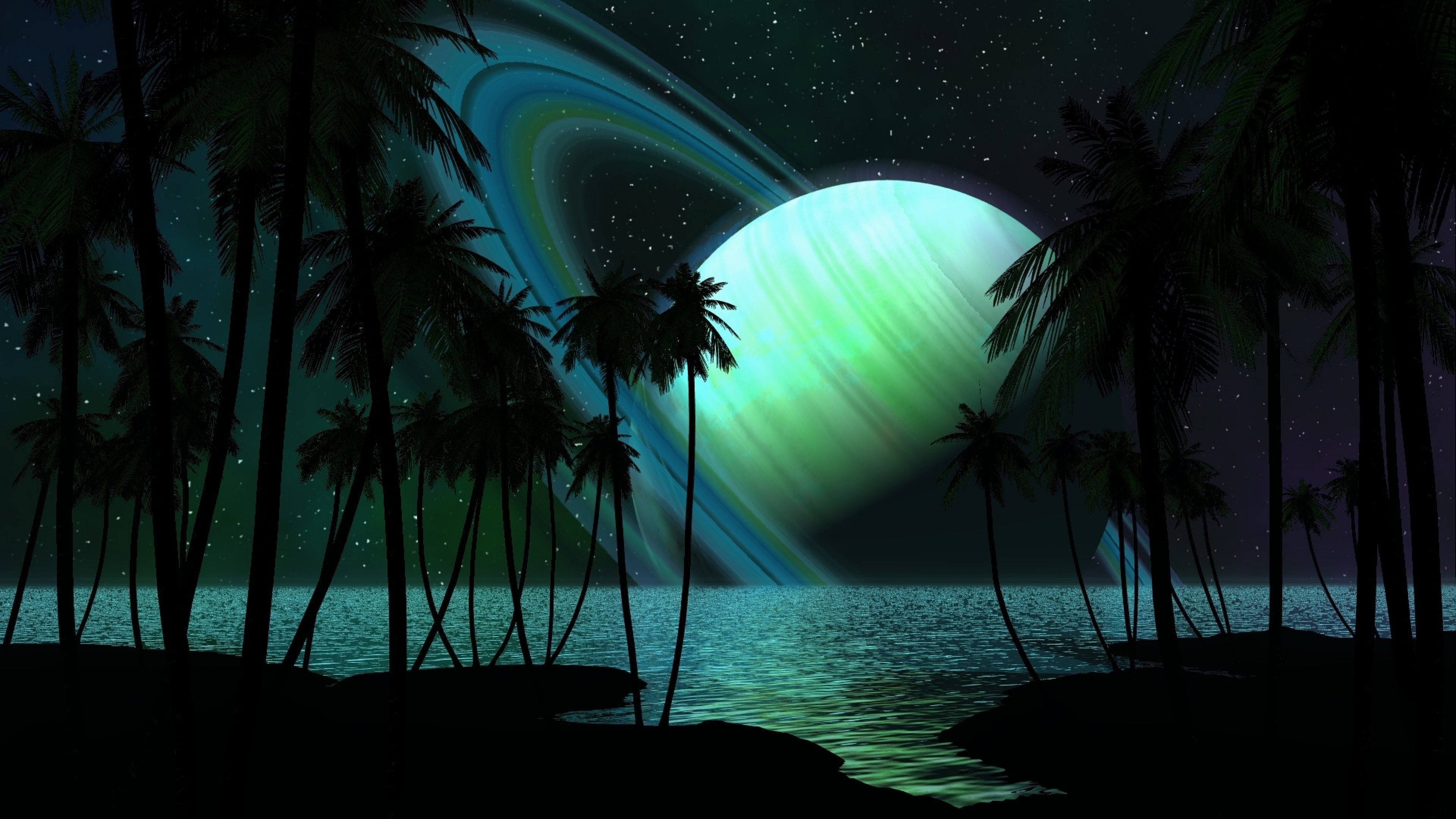 Black Night Fantasy 4k Ultra Hd Wallpaper Space Art Live Backgrounds Desktop Background Images