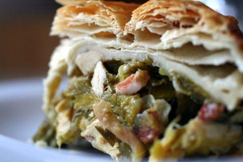 roast chicken, leek & pancetta pie!