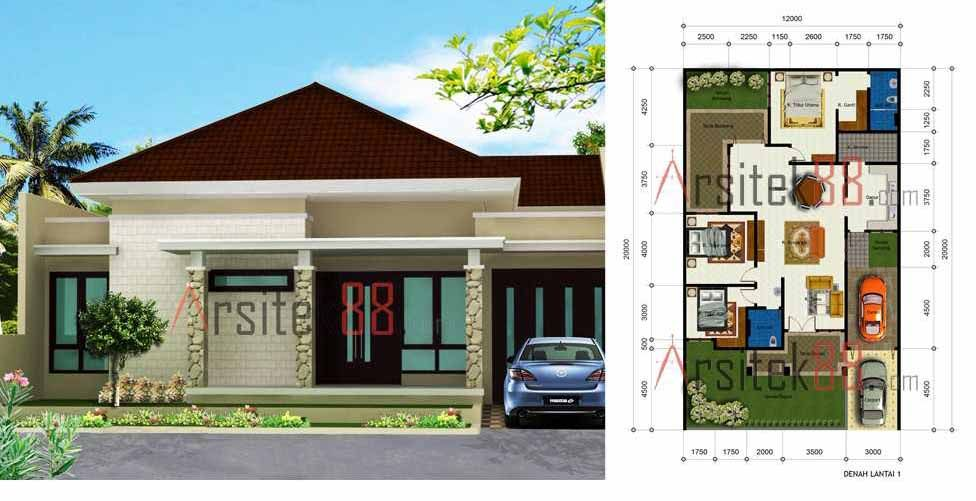 Desain Rumah Minimalis 3 Kamar Tidur 1 Lantai Cek Bahan Bangunan