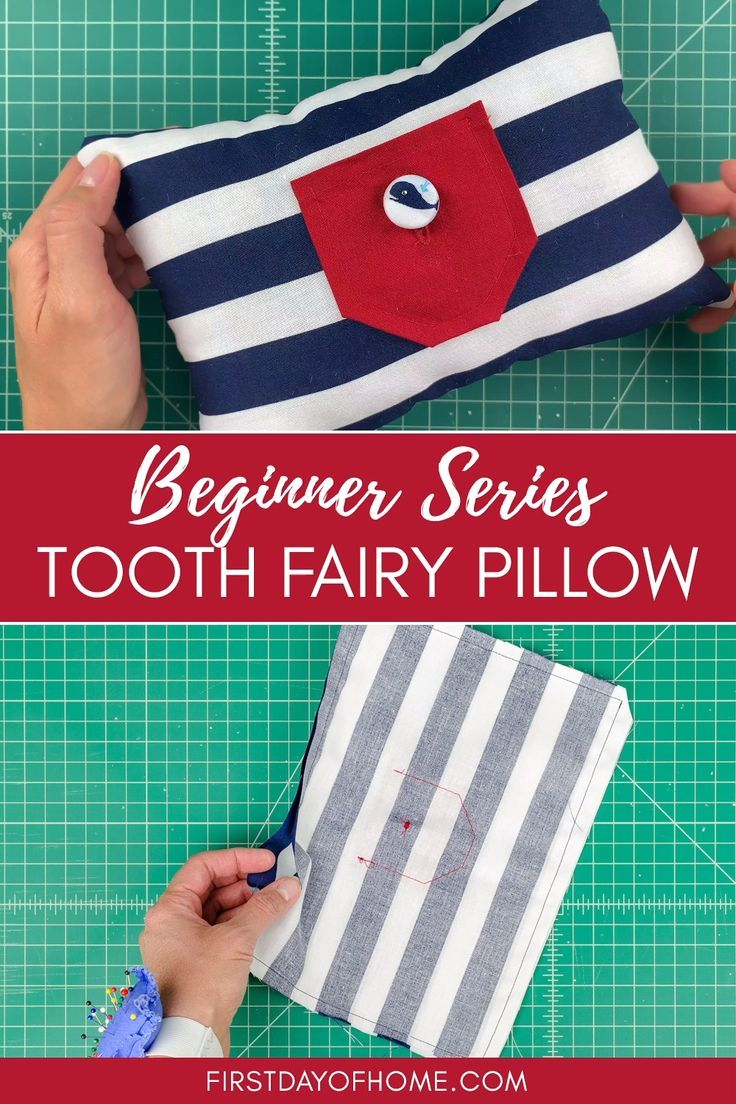 Get a Free Tooth Fairy Pillow Pattern to Sew in a Day