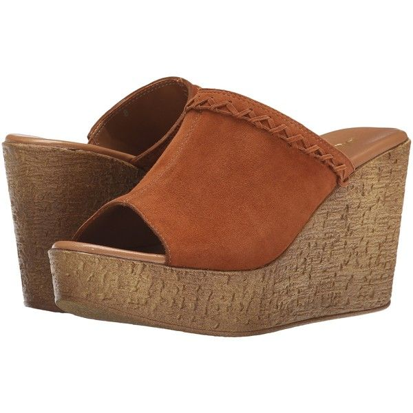 Athena Alexander Gogo Women's Slide Shoes, Tan ($43) ❤ liked on Polyvore  featuring