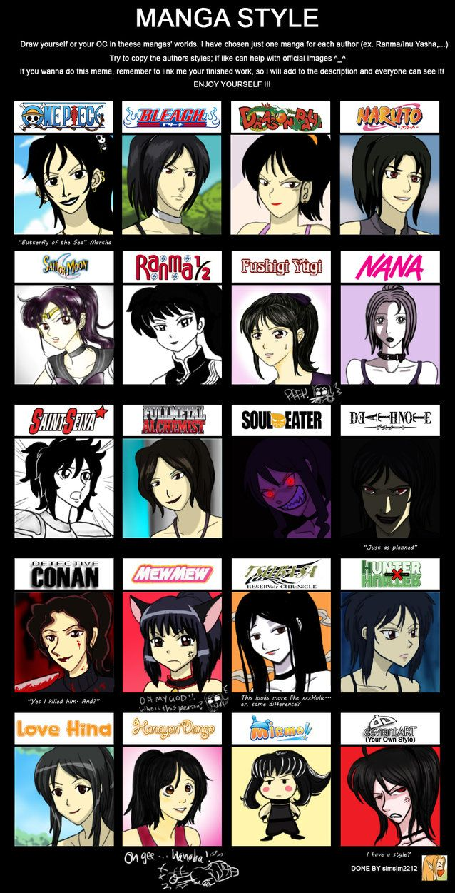 Manga Anime Style Meme Fun By Cartoonlion On Deviantart Anime Style Bleach Anime Anime Crossover