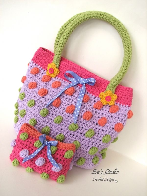 Bubble Spring Purse And Wallet Crochet Pattern By Evas Studio