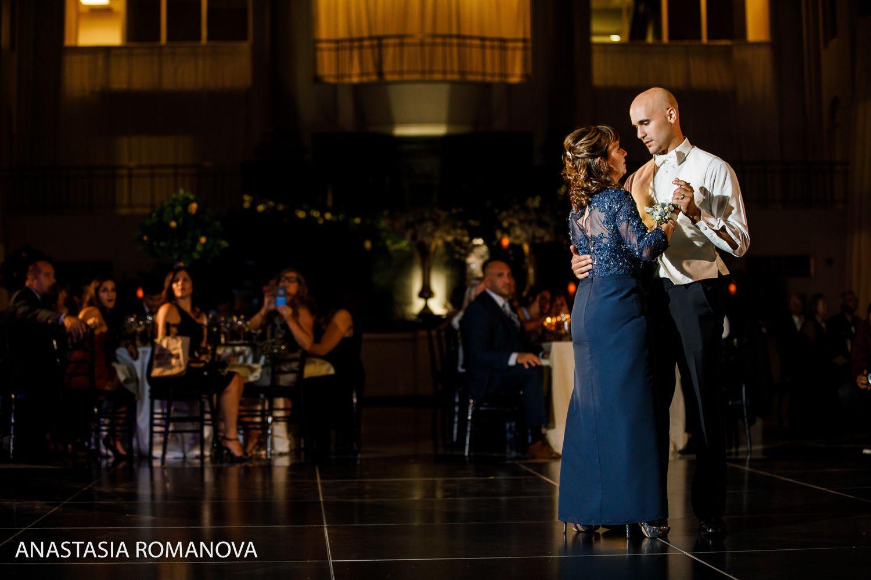 Atrium At The Curtis Center Philadelphia Wedding Mother And Son