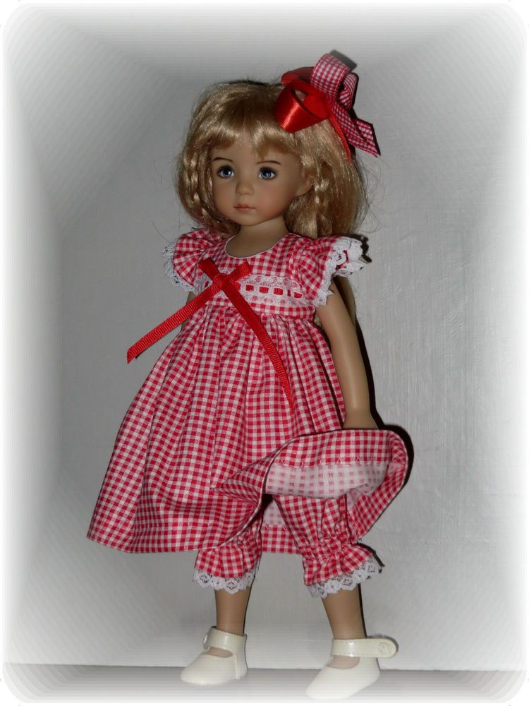 "*COUNTRY GINGHAM*DRESS SET  FOR  EFFNER LITTLE DARLING OR TONNER14""BETSY MCCALL"