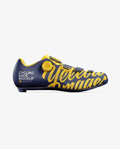 Download Road Cycling Shoe Mockup Side View In Apparel Mockups On Yellow Images Object Mockups Road Cycling Shoes Cycling Shoes Design Mockup Free
